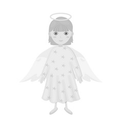 Guardian angel single icon in monochrome style for vector