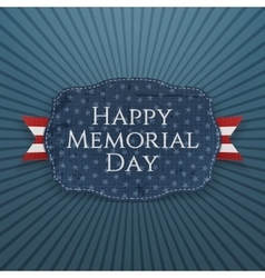 Happy Memorial Day greeting Sign and Ribbon vector image