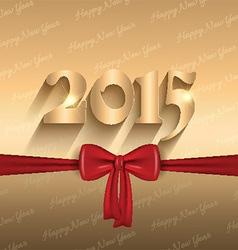 happy new year ribbon design 2409 vector image
