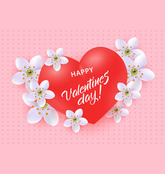 happy valentine day greeting banner with sign on vector image