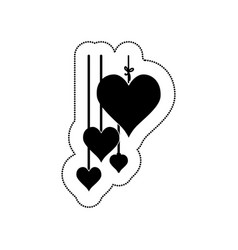 hearts love card icon vector image