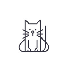 home cat line icon sign on vector image