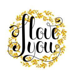 i love you sign on a white background vector image