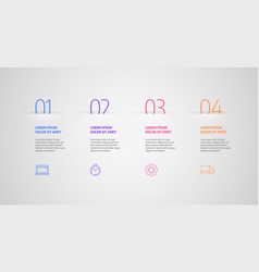 Infographics design business concept vector