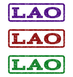 lao watermark stamp vector image
