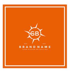Letter gb compass logo design vector