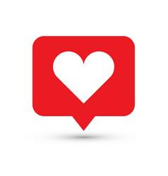 like heart icon one set web icons vector image