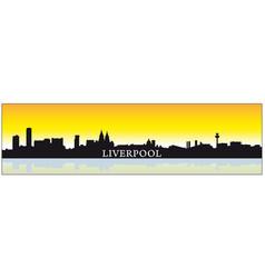 liverpool skyline silhouette vector image