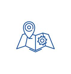 Logistics line icon concept logistics flat vector