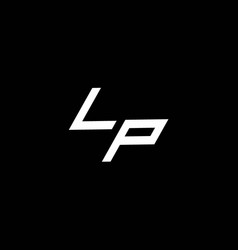 Lp logo monogram with up to down style modern vector
