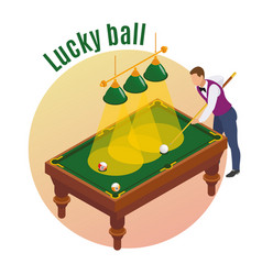 lucky ball isometric background vector image