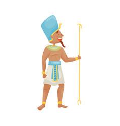 Man in costume egyptian pharaoh vector