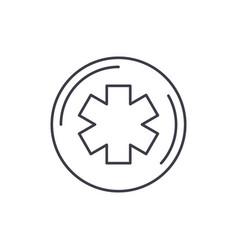 medicine symbol line icon concept medicine symbol vector image