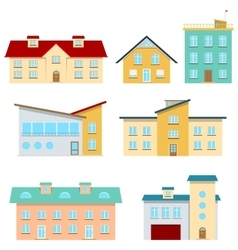 Modern Houses vector image