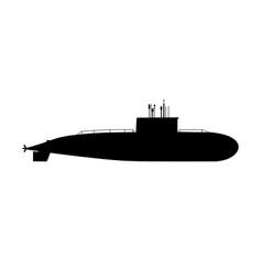 modern submarine sub large crewed vessel vector image
