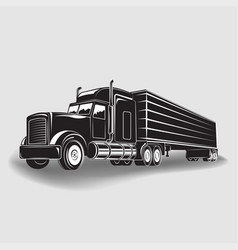 monochrome truck icon vector image
