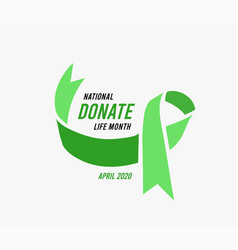 National donate life month vector