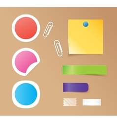 Notes stickers vector