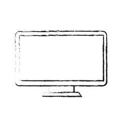 pc monitor hardware vector image