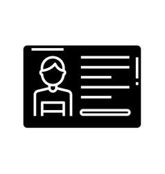 Permission card black icon concept vector