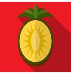 Pineapple flat icon vector image