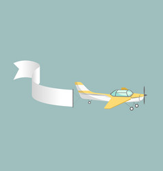 Plane with attached long blank stripe vector