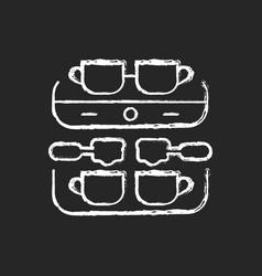 professional coffee machine chalk white icon vector image
