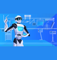 robotic doctor surgeon in clinic surgery room vector image