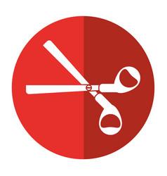 Scissors tool school icon shadow vector