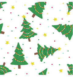 Seamless pattern with christmas tree isolated on vector