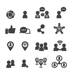 Social icon vector