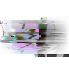 stock glitch style computer vector image