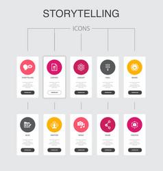 Storytelling infographic 10 steps ui design vector