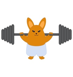 Strong bunny vector image