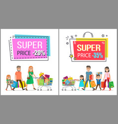 Super price reduction for great family shopping vector