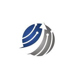 Technology development logo design template vector