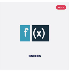 Two color function icon from shapes concept vector
