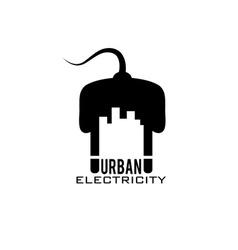 Urban electricity design template vector