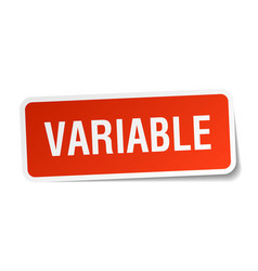Variable square sticker on white vector