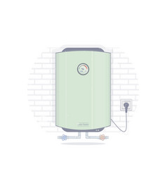 Water heater electric vector