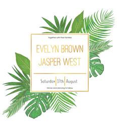 wedding floral invitation invite card vector image