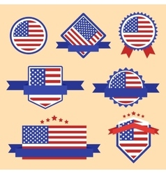 World Flags Series Flag of USA vector