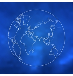 World map sketch art vector