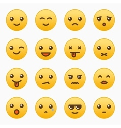 Yellow emoticons set vector image