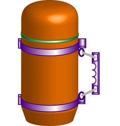 Yellow thermos vector image