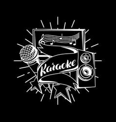 Karaoke party design music event background vector