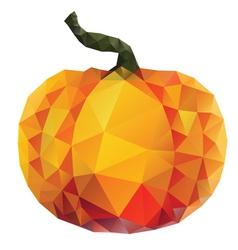 Polygonal Pumpkin vector image vector image