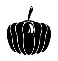 pumpkin vegetable food fresh pictogram vector image