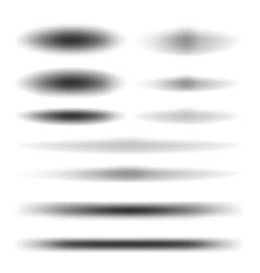 Set design shadow vector image vector image