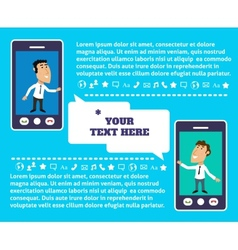 Mobile communication presentation vector image vector image
